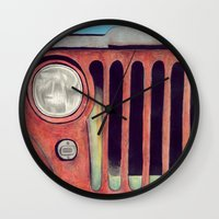 jeep Wall Clocks featuring Jeep by Shannon Rutherford