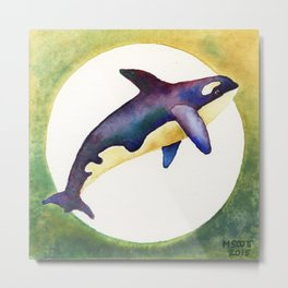 Orca - Killer Whale Sunrise Metal Print