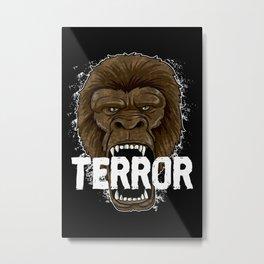 Terror Monkey | Rampage Gorilla Metal Print