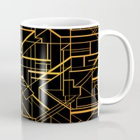 the great gatsby Mugs featuring Great Gatsby Style Pattern by Varvara Gorbash