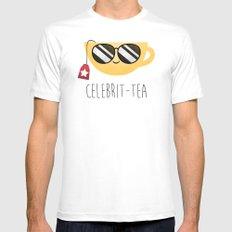 Celebrit-tea MEDIUM Mens Fitted Tee White