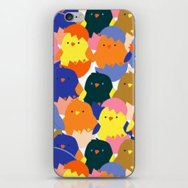 Colored Baby Chickens pattern iPhone Skin
