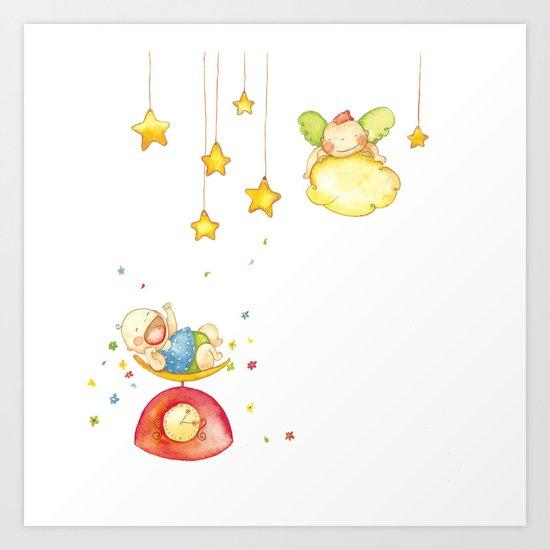 Baby weight Art Print