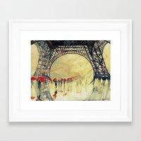 takmaj Framed Art Prints featuring Winter in Paris by takmaj