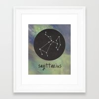 sagittarius Framed Art Prints featuring Sagittarius by snaticky