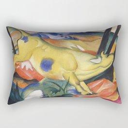 Franz Marc - Yellow Cow Rectangular Pillow