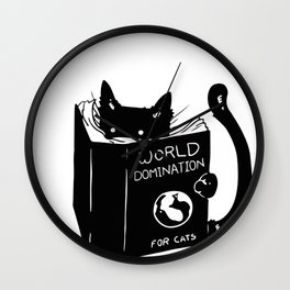 World domination - for cats Wall Clock