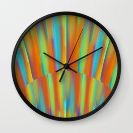 Cooling Metal Copper and Blues Design Wall Clock