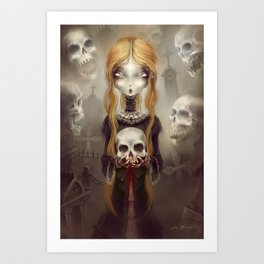 Black Widow by Élian Black'Mor Art Print