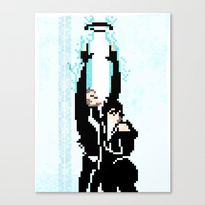 8 Bit Tron: Legacy Canvas Print