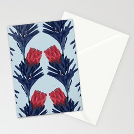PROTEA IN COLUMBIA BLUE Stationery Cards