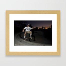 Kevin Offerman. Frontside Five in Shallow  Framed Art Print