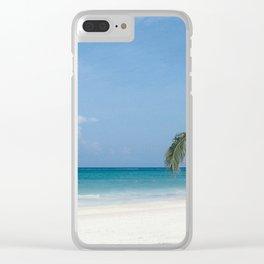Cancun Beach Clear iPhone Case