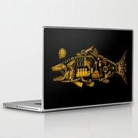 cyberpunk Laptop & iPad Skins featuring Cyberpunk fish by Oceloti