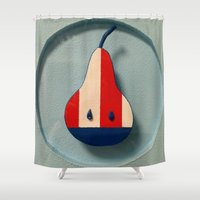 pear Shower Curtains featuring Pear by Jk & Frax