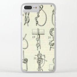 Vintage Knots Chart Clear iPhone Case