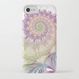 Watercolor Fibonacci Spiral iPhone Case