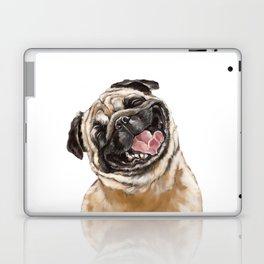 Happy Laughing Pug Laptop & iPad Skin