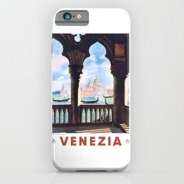 1938 ITALY Venice Venezia Travel Poster iPhone Case