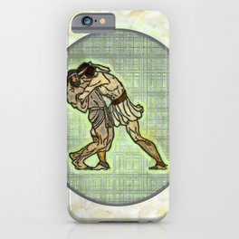 The Wrestlers iPhone Case