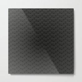 Grey Circles Metal Print