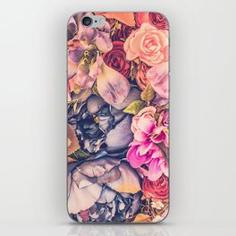 Beautiful background with different flowers iPhone Skin