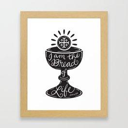 Catholic Communion Bread of Life Framed Art Print