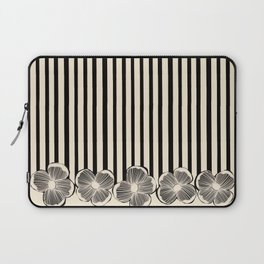 Classic Cream and Black Laptop Sleeve