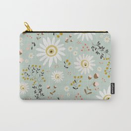Gold Daisy Carry-All Pouch