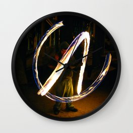 Fire Poi. Wall Clock
