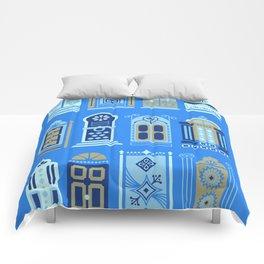 Moroccan Doors – Cornflower Blue Palette Comforters