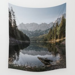 Lake View - Landscape and Nature Photography Wall Tapestry