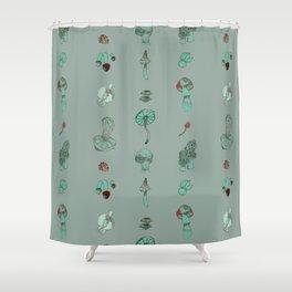 Misty Fungal Mushroom Fungus Watercolor Agaric Morel Shower Curtain