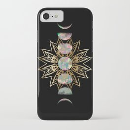 Opal Moon and Gold Stars iPhone Case