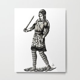 Amazonian Princess Metal Print