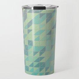 Beveled Triangles  Travel Mug