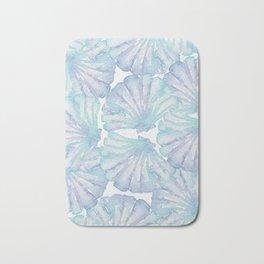 Shell Ya Later - Turquoise Seashell Pattern Bath Mat