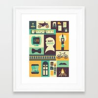 risa rodil Framed Art Prints featuring Empty Hearse by Risa Rodil
