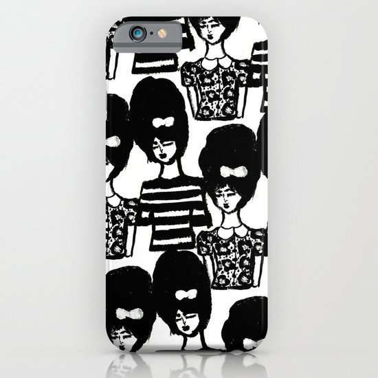 Bouffant Girls iPhone & iPod Case