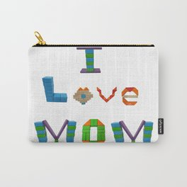 I Love Mom Carry-All Pouch
