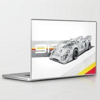 porsche Laptop & iPad Skins featuring Porsche 917K by sesven
