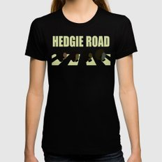Hedgie road Black Womens Fitted Tee SMALL