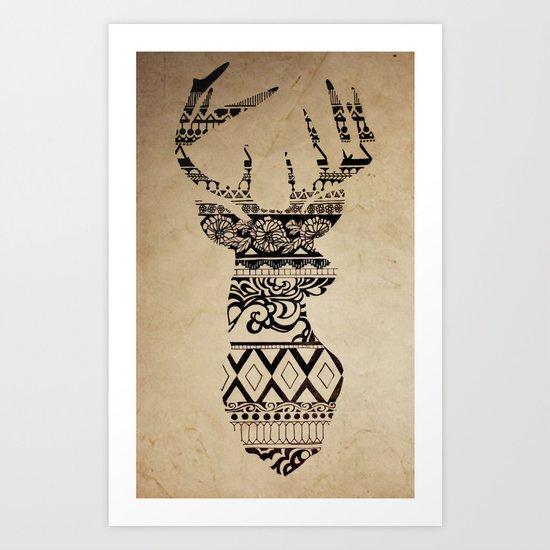 Oh Deer, Oh My Art Print