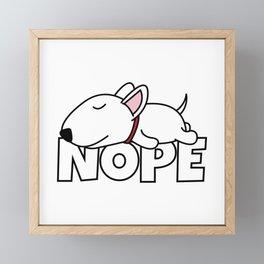 Nope Bull Terrier Framed Mini Art Print