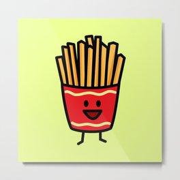 Happy Fries Metal Print