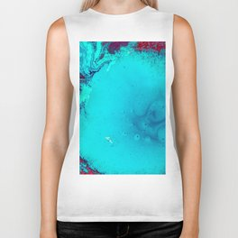 Blue and red marble Biker Tank