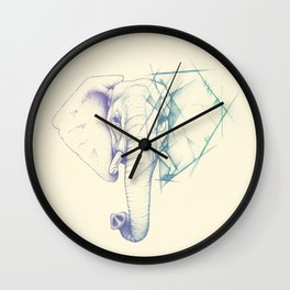 Sketched elephant Wall Clock