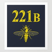 221b Art Prints featuring 221B(ee) by sirwatson
