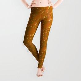 Orange Shade Bibble Background Leggings
