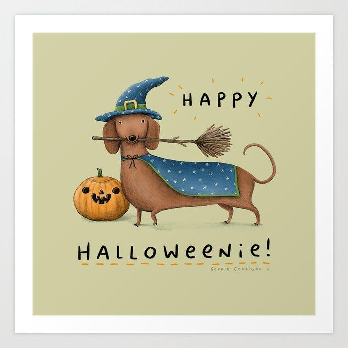 Happy Halloweenie! Art Print